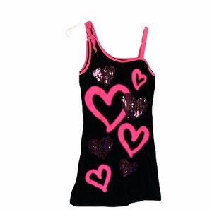 Justice 16 pink heart dress